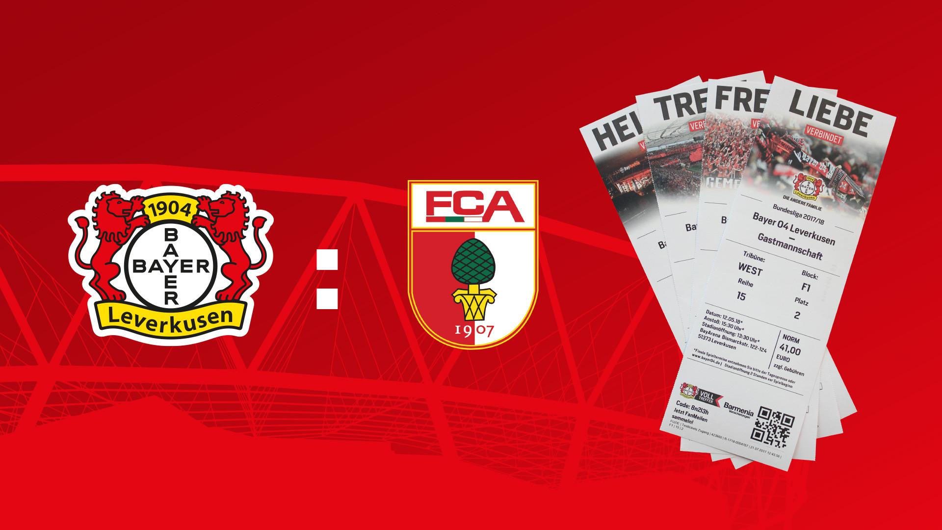 [ FANMILES ] 1 Ticket für Bayer Leverkusen - Augsburg für 5000 Punkte
