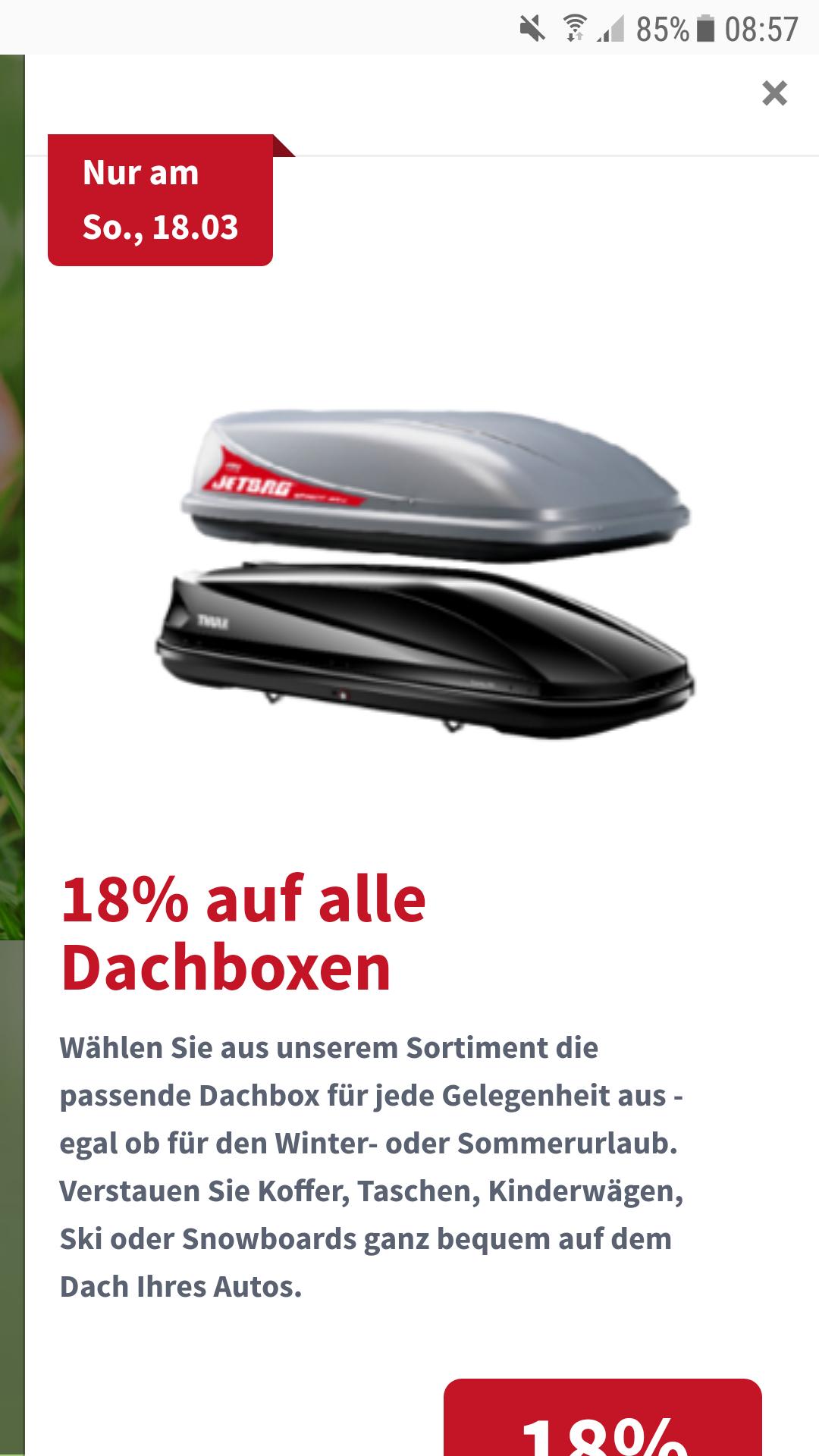 18% auf Dachboxen bei ATU ONLINE