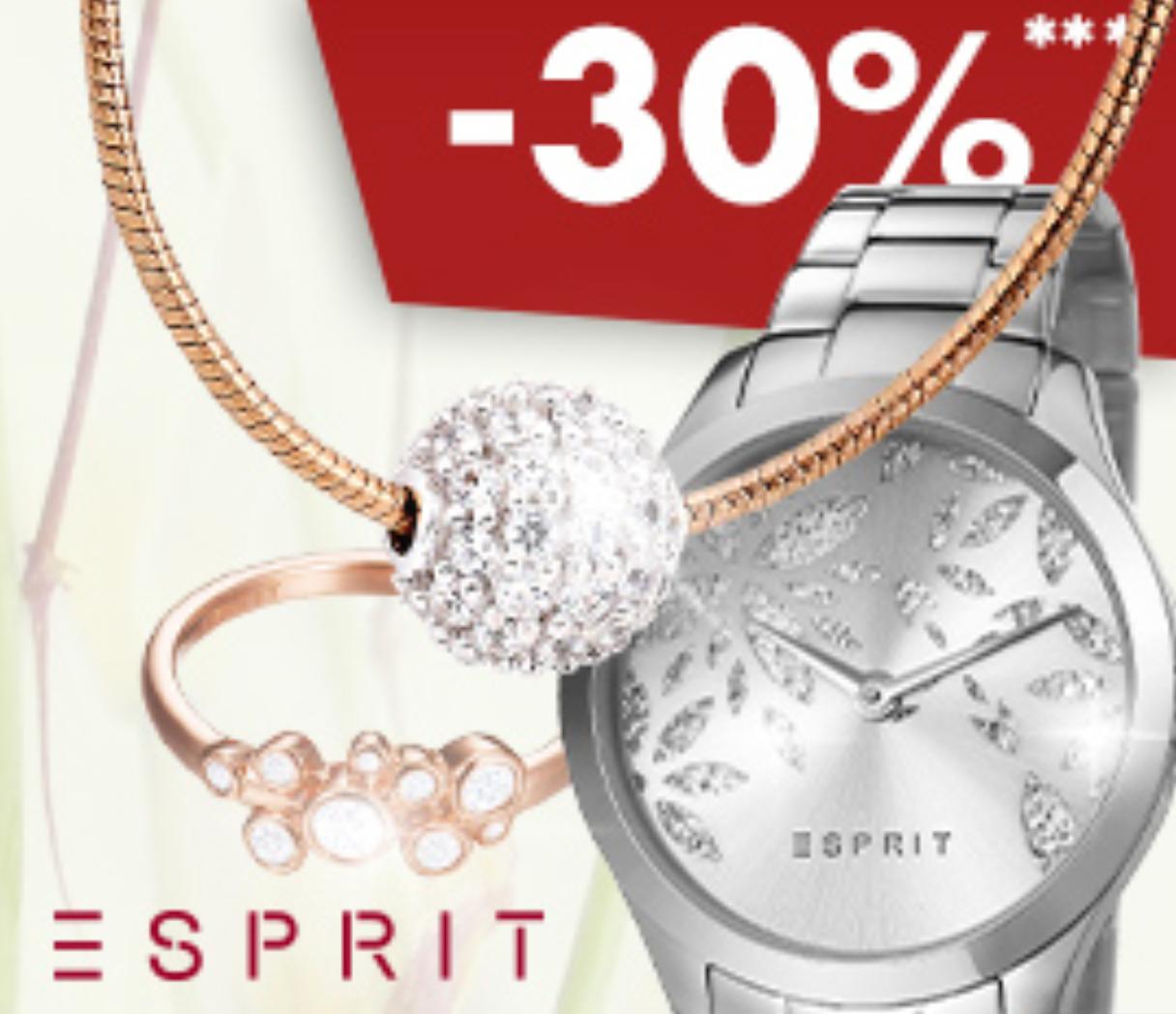 Karstadt: 30% Rabatt auf Uhren und Schmuck von Esprit + 5% Shoop