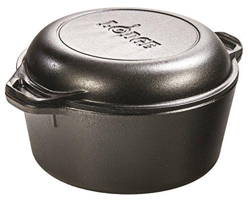 Lodge Double Dutch Oven (Topf + Bratpfanne) Gusseisen 4,7l