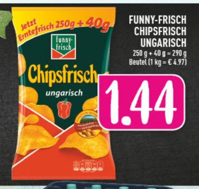 funny-frisch Chipsfrisch Ungarisch 250g + 40g Lokal Edeka Driller Herne