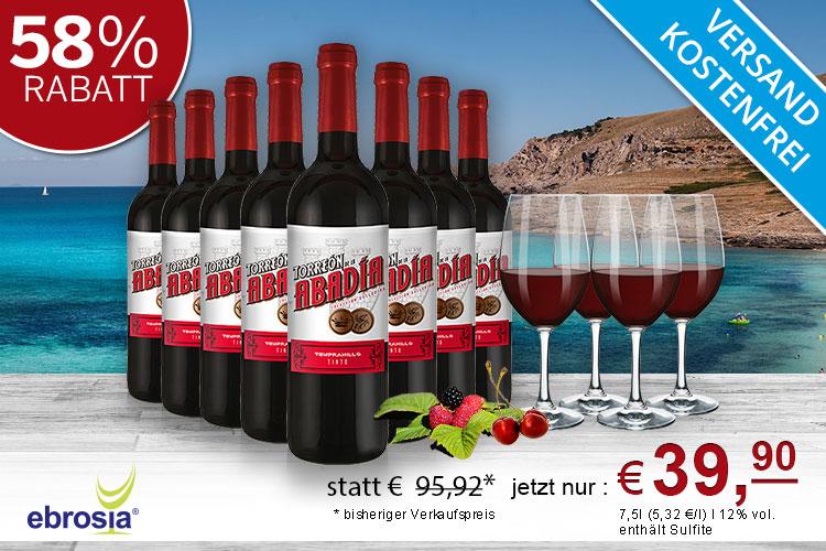 Weinpaket Tempranillo von ebrosia (über spartanien)