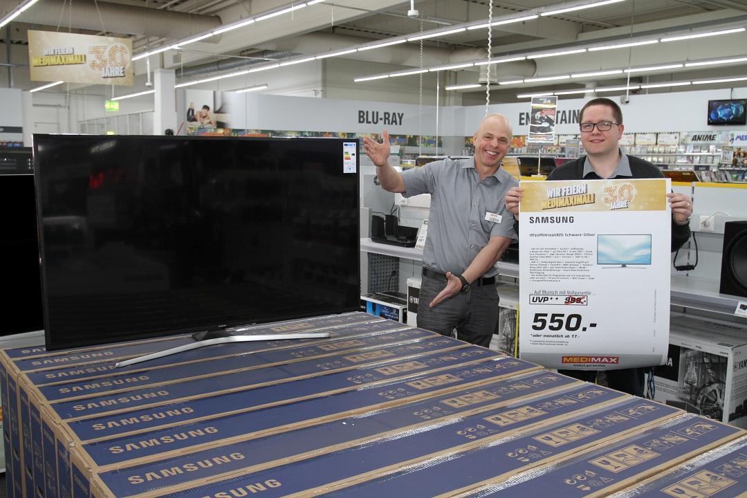 Samsung UE55MU6199UXZG für 550 Euro beim MEDIMAX Dortmund
