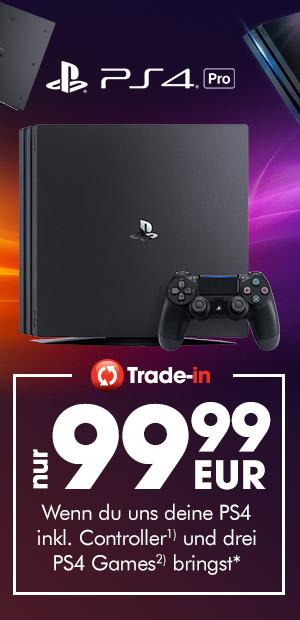 PS4 Pro 1TB für 99,99 EUR bei Abgabe einer alten PS4 und 3 Games (Gamestop Eintauschaktion Filialen)