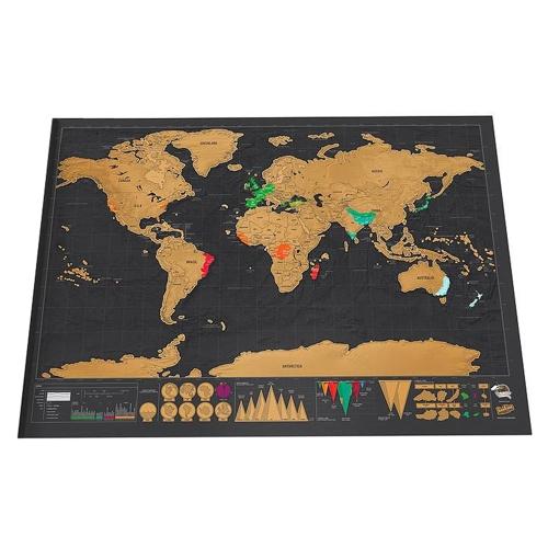 XXL-Weltkarte zum Freirubbeln für 2,48€ [Tomtop]