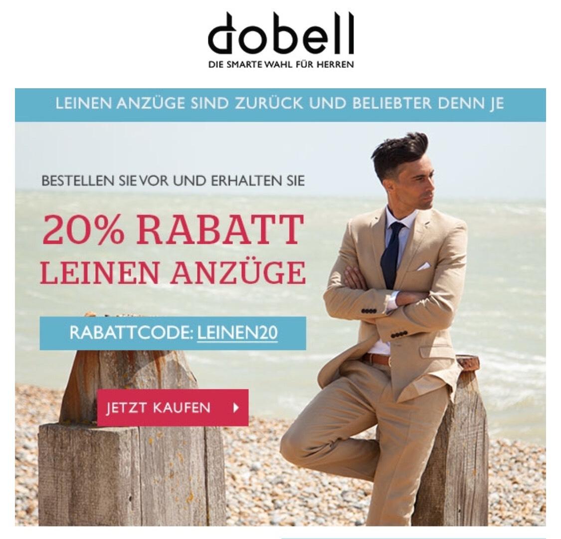 [Dobell.de] 20% auf Leinen-Anzüge