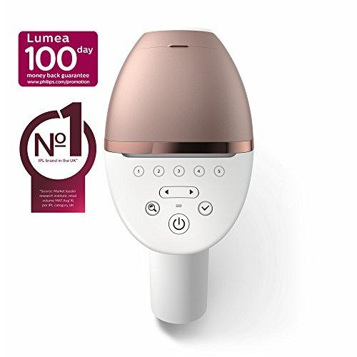 Philips Lumea Prestige IPL Haarentfernungsgerät BRI956 / Lichtbasierte Haarentfernung für dauerhaft glatte Haut - inkl. 4 spezieller Aufsätze für Körper, Gesicht, Bikini-Zone & Achseln