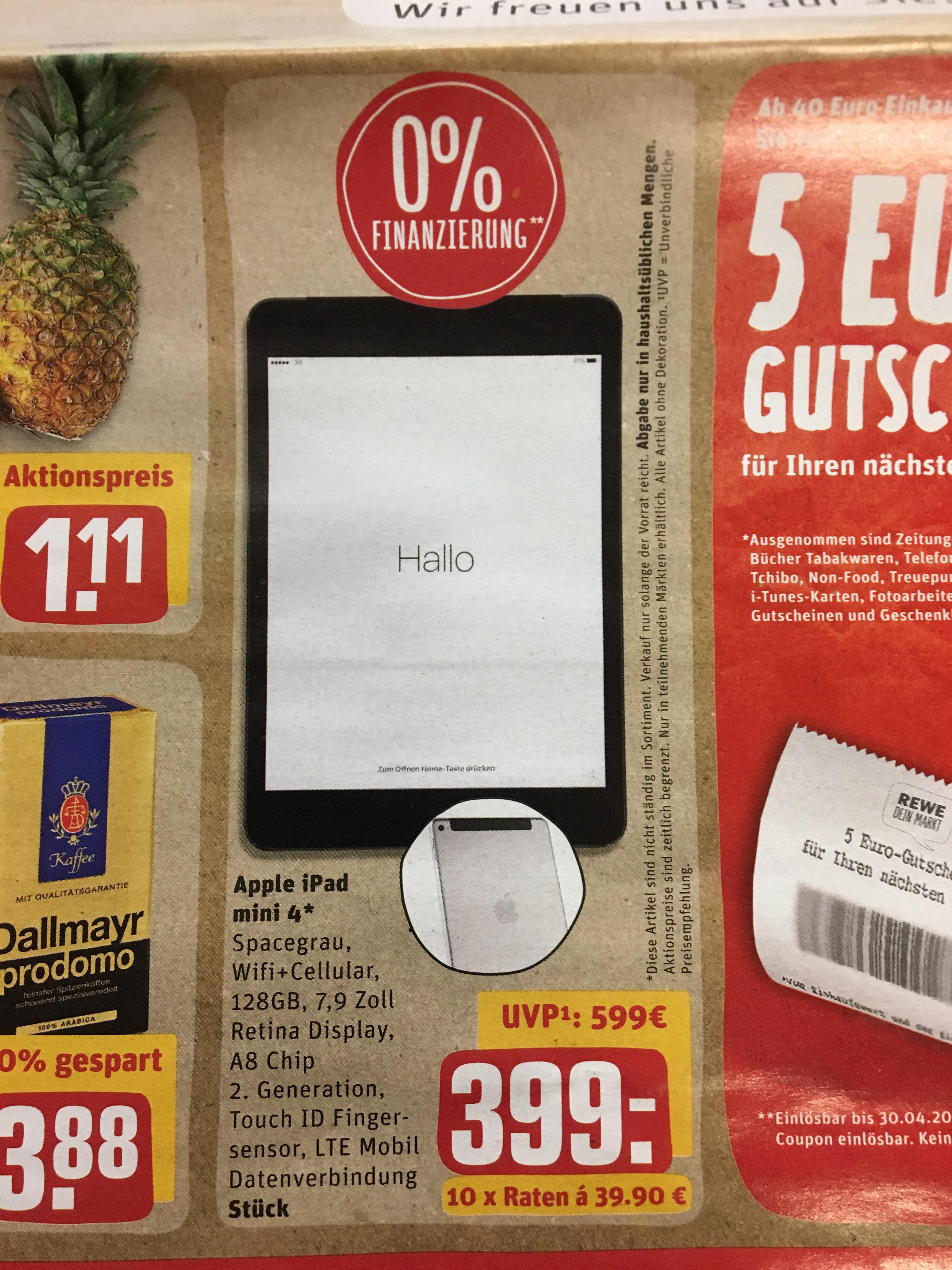iPad Mini 4 Wifi + Cellular 128GB (Lokal?)
