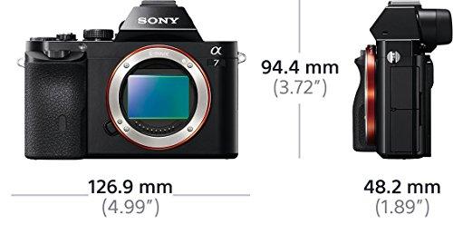 Sony Alpha ILCE-7 E-Mount Vollformat Digitalkamera (24,3 Megapixel, 7,6cm (3 Zoll) LCD Display, BIONZ X, 2,3 Megapixel OLED Sucher, NFC, nur Gehäuse) schwarz / amazon-PRIME!