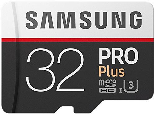 Samsung PRO Plus Micro SDHC 32GB bis zu 100MB/s, Class 10 U3 Speicherkarte (inkl. SD Adapter) [Amazon Frustfreie Verpackung] für 24,99€ / Amazon Prime