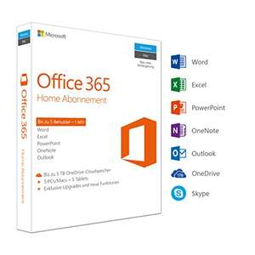 Microsoft Office 365 Home Jahreslizenz für nur 49,99€ (5 Geräte) (PC/Mac) [Amazon Angebot des Tages]
