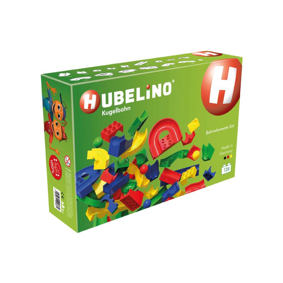 HUBELINO® Kugelbahn - 128-teiliges Bahnelemente-Set