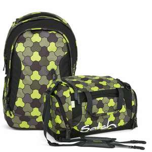 [Amazon] Ergobag Satch Pack Sleek Jungle Flow 2er Set Schulrucksack + Sporttasche