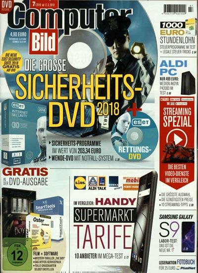 Computer Bild inkl. DVD Abo für 130,50 € mit 125 € Verrechnungsscheck