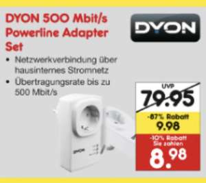 [Lokal Netto Eltville] Dyon Powerline Adapter 500 MBit/s