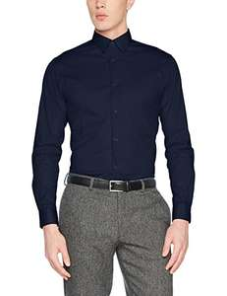 SELECTED HOMME Herren Businesshemd Shdonephil Shirt Ls Noos Blau | verschiedene Größen ab 9,36 EUR [Amazon]