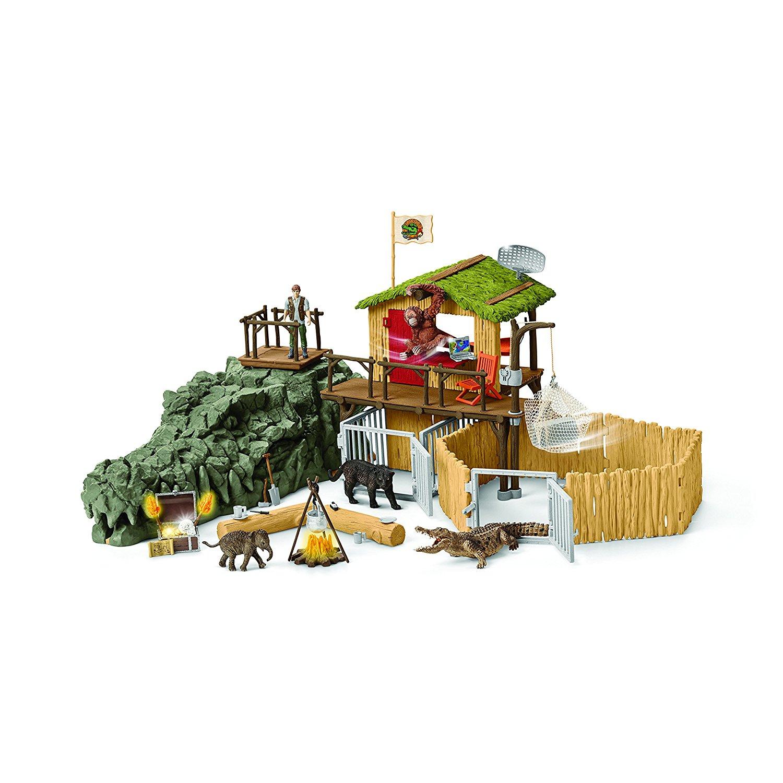 [Amazon oder myToys] Schleich 42350 - Dschungel Forschungsstation Croco - Spielzeug