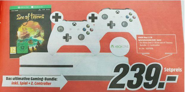 [Mediamarkt Österreich ab spätestens Mittwoch]  Microsoft Xbox One S 1TB Sea of Thieves Bundle+2.Controller ab 240,-€