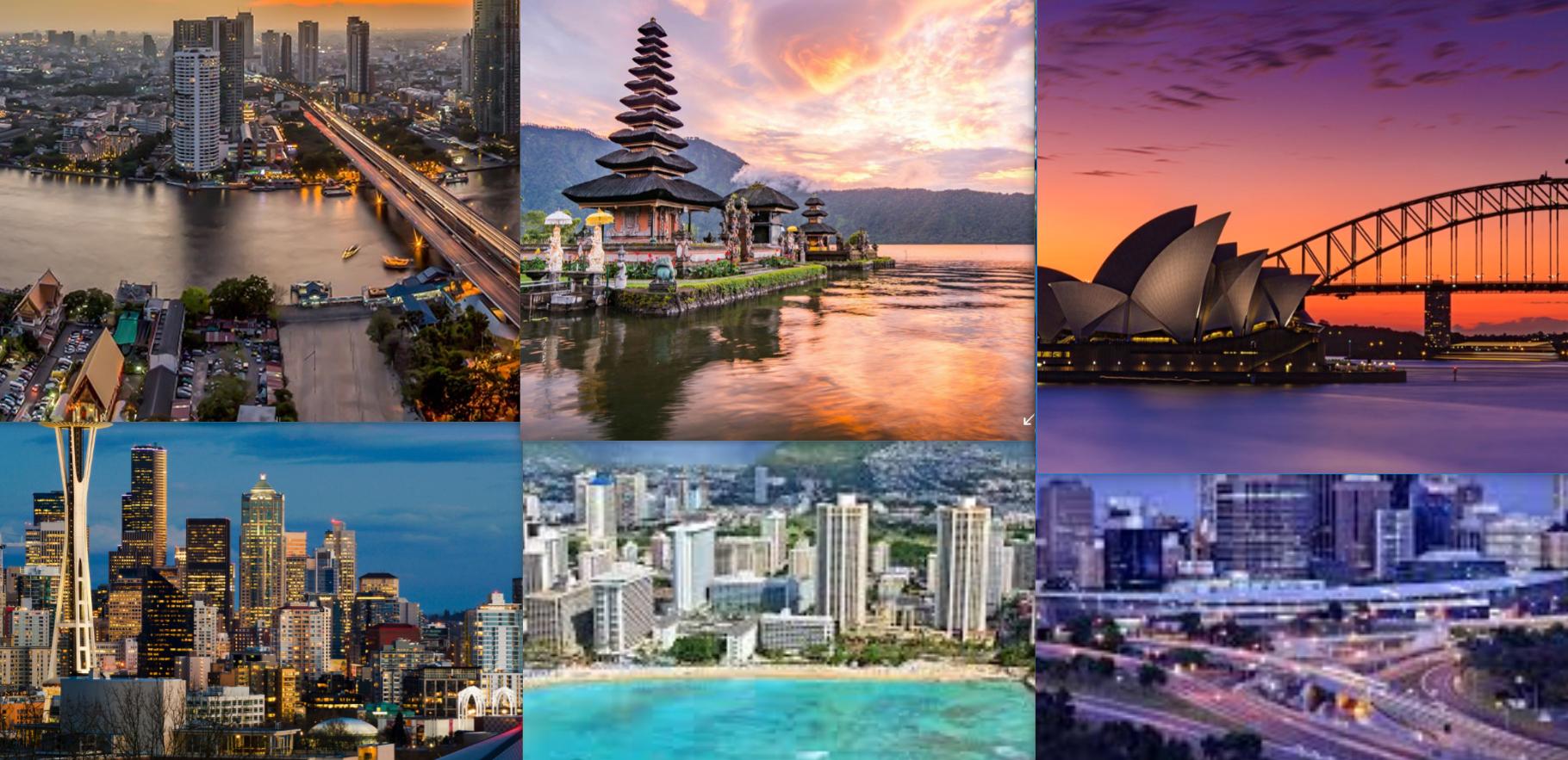 Singlereise Weltreise (6 Wochen) NUR Flüge Thailand, Japan, Bali, Australien, Neuseeland, Honolulu, USA