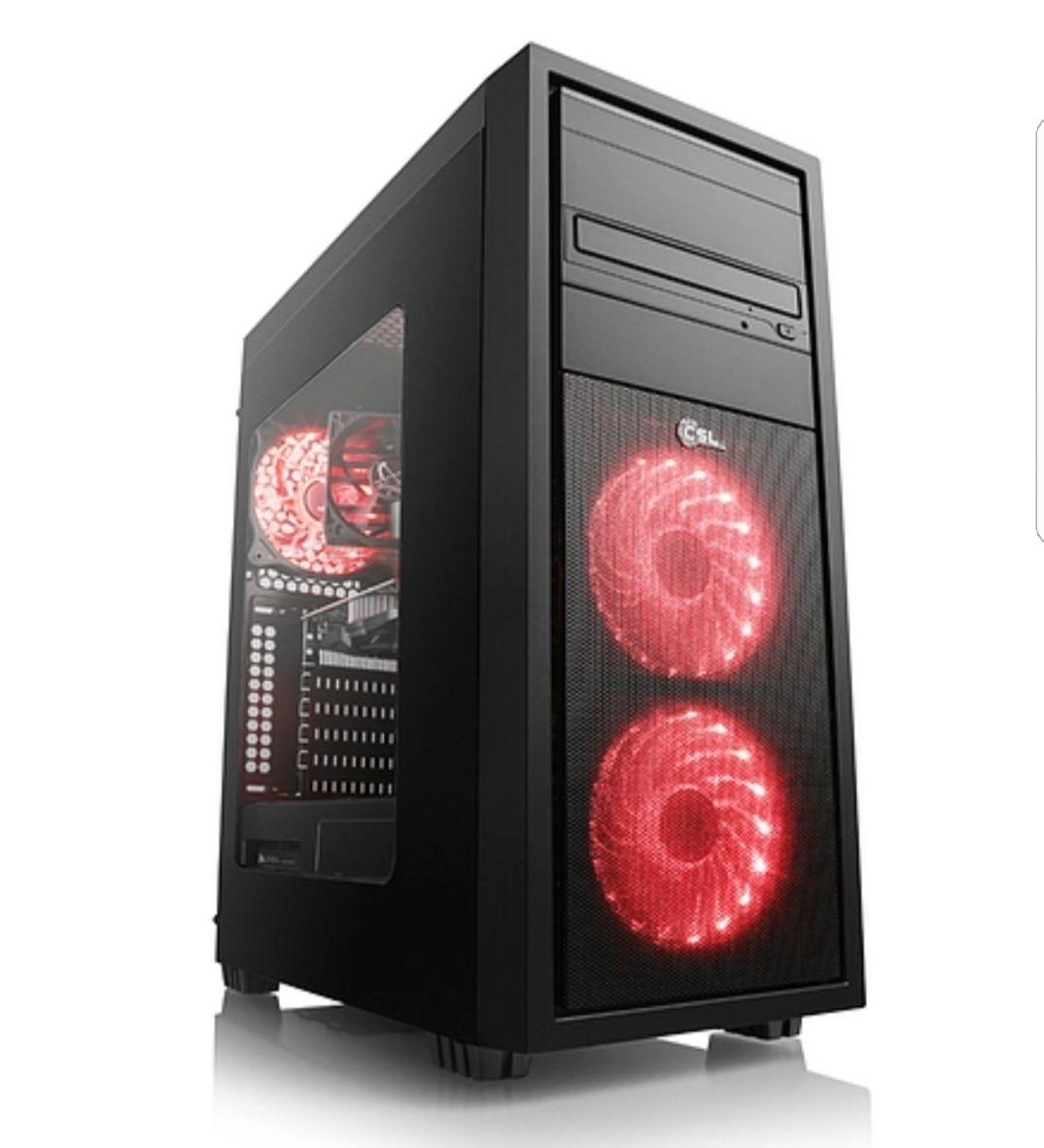 Gaming PC CSL Sprint 5918 (Octa): Ryzen 7 1700X 8x 3.4 GHz, 16gb DDR4-2400 RAM, MSI Armor GTX 1080 8gb, 240gb SSD, 1000gb HDD, FreeDOS + kostenloses Spiel: Hellblade: Senua's Sacrifice