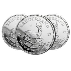 3er-Set Krügerrand Silbermünzen 2017 - Deutschlandweit billigster Preis