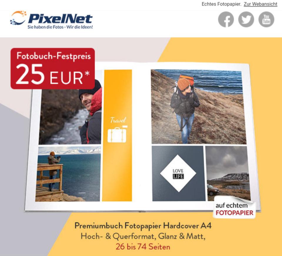 A4 Fotobuch | Echtfotobuch | Hardcover | 26-74 Seiten | Leporello Bindung