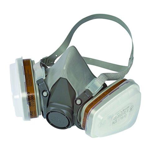 [amazon] 3M Mehrweg-Halbmaske 6002C / Halbmaske mit Wechselfiltern gegen organische Gase, Dämpfe & Partikel / Für Farbspritz- und Maschinenschleifarbeiten für 35,91€ oder Ersatzfilter für 18,56€