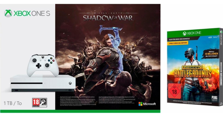 Diverse Xbox One S Bundles bei Otto im Angebot Z. B Xbox One S 1TB Shadow of War Bundle inkl. PUBG