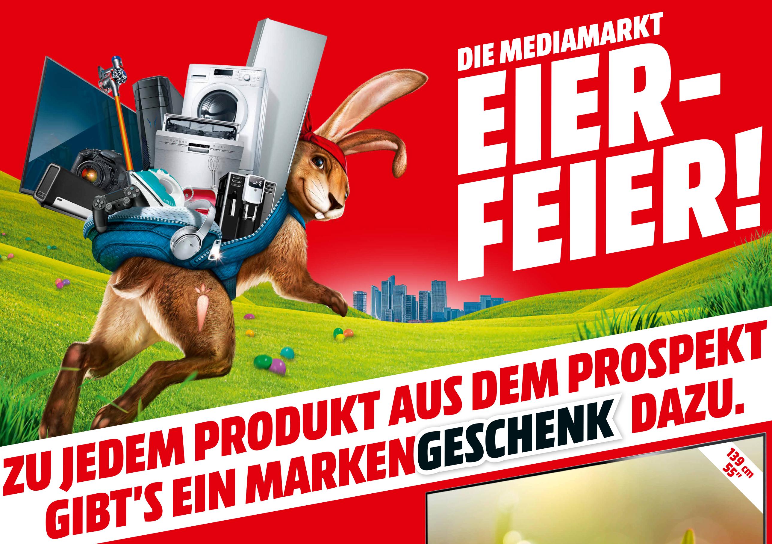 JETZT ONLINE! - Die große MediaMarkt Eier-Feier - Zu jedem Produkt ein MarkenGESCHENK dazu!