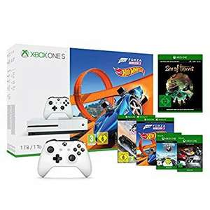 Xbox One S 1TB Konsole - Forza Horizon 3 Hot Wheels Bundle inkl. Steep, The Crew, Sea of Thieves & 2 Xbox Controller