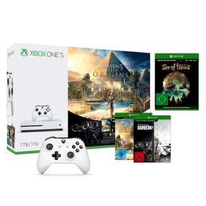 Xbox One S 1TB Konsole - AC Origins Bundle inkl. TCs Rainbow Six: Siege, Sea of Thieves & 2. Xbox Controller für 234€ [Amazon.de]