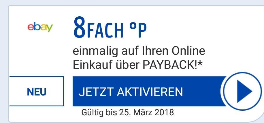 [Payback.de] 8 Fach Punkte bei Ebay über die Payback App