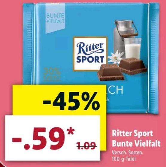 Ritter Sport Bunte Vielfalt 0.59€ [LIDL]