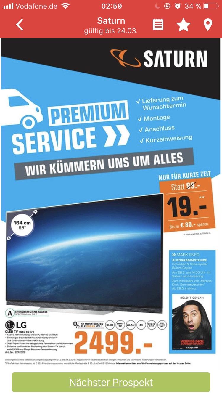 (Saturn Köln Lokal) LG OLED TV 65E7 65Zoll, Smart,