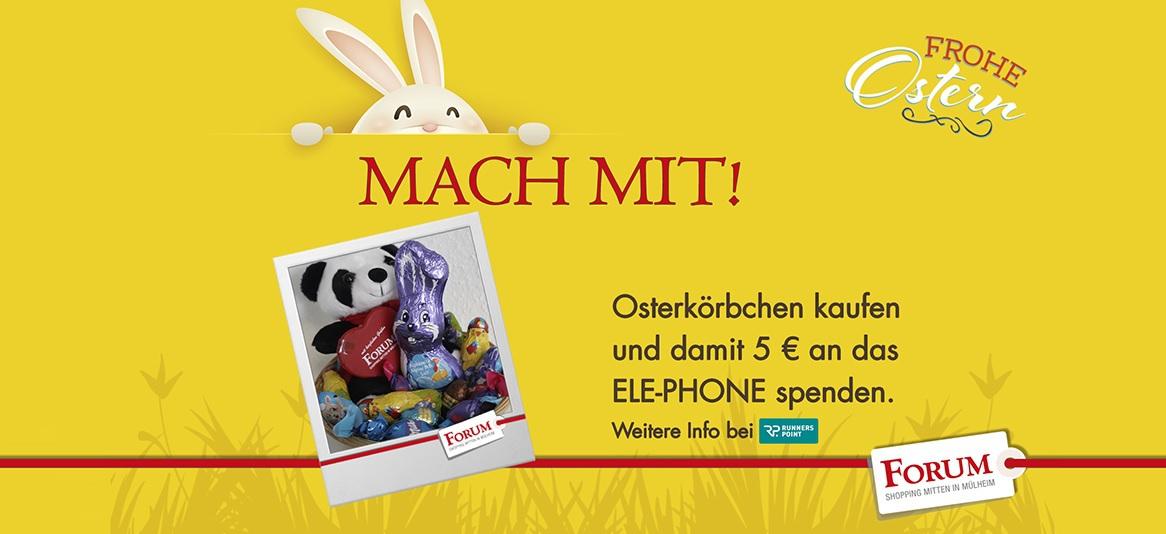 [ Mülheim (Ruhr) / NRW ] Osterkorb mit Süßigkeiten + 5€ Forum Einkaufszentrum Gutschein für 5€ (effektiver Freebie)