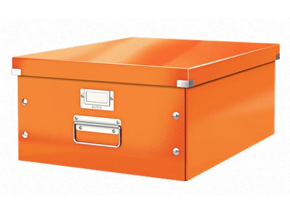 Leitz Aufbewahrungsbox / Organizer A3 orange & giftgrün (Dodax & Amazon)