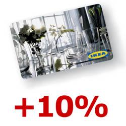 Ikea Berlin: Geschenkkarte kaufen und 10% als Aktionskarte dazubekommen (24.3. - 7.4.2018)
