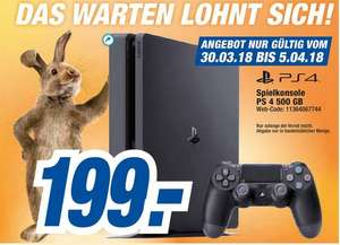 (eventuell Bundesweite Aktion) Playstation 4 Slim 500GB ohne Spiel (Expert Octomedia)