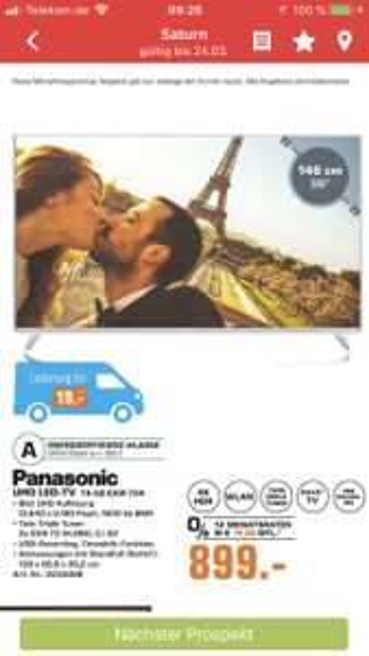 (Lokal Saturn Köln) Panasonic TX-58 EXW734