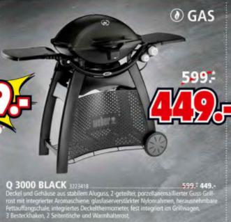 WEBER Q3000 BLACK (LOKAL PULHEIM)