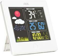 ADE Funk-Wetterstation Wetterstation mit Außensensor und Funkuhr WS 1602