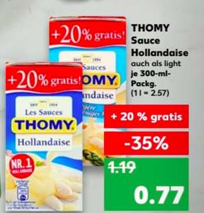 [Kaufland] Ab 22.03. Thomy Les Sauces Hollandaise + 20% gratis