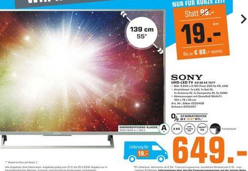 [Lokal HH] Sony 55 XE7077 TV