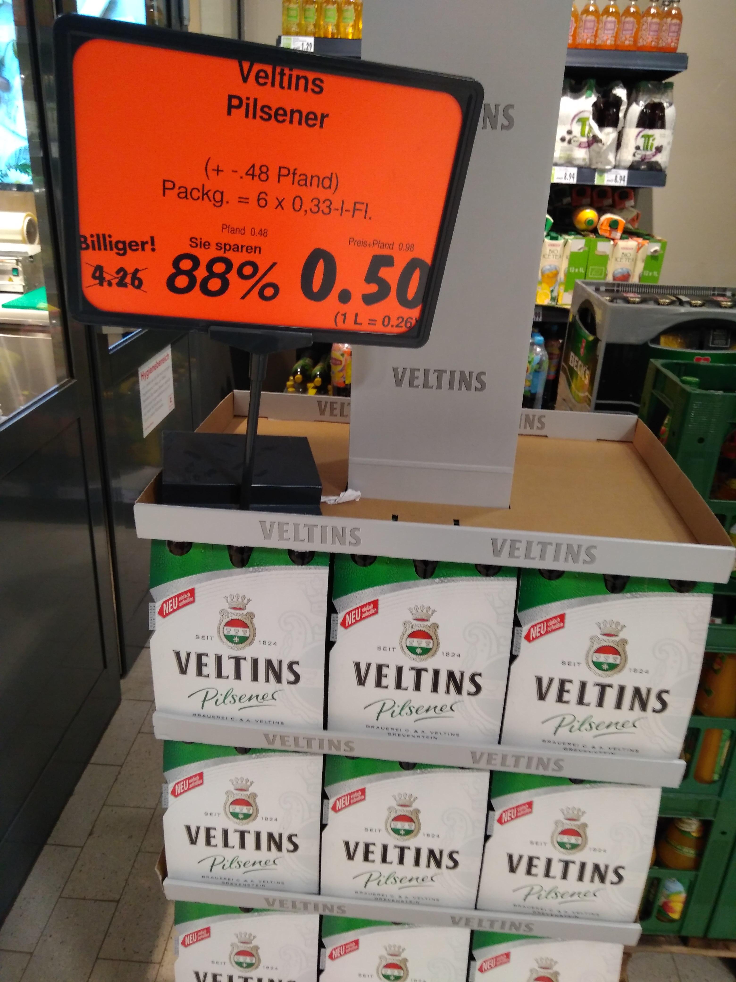 Lokal Kaufland Erding Veltins Pilsener Sixpack