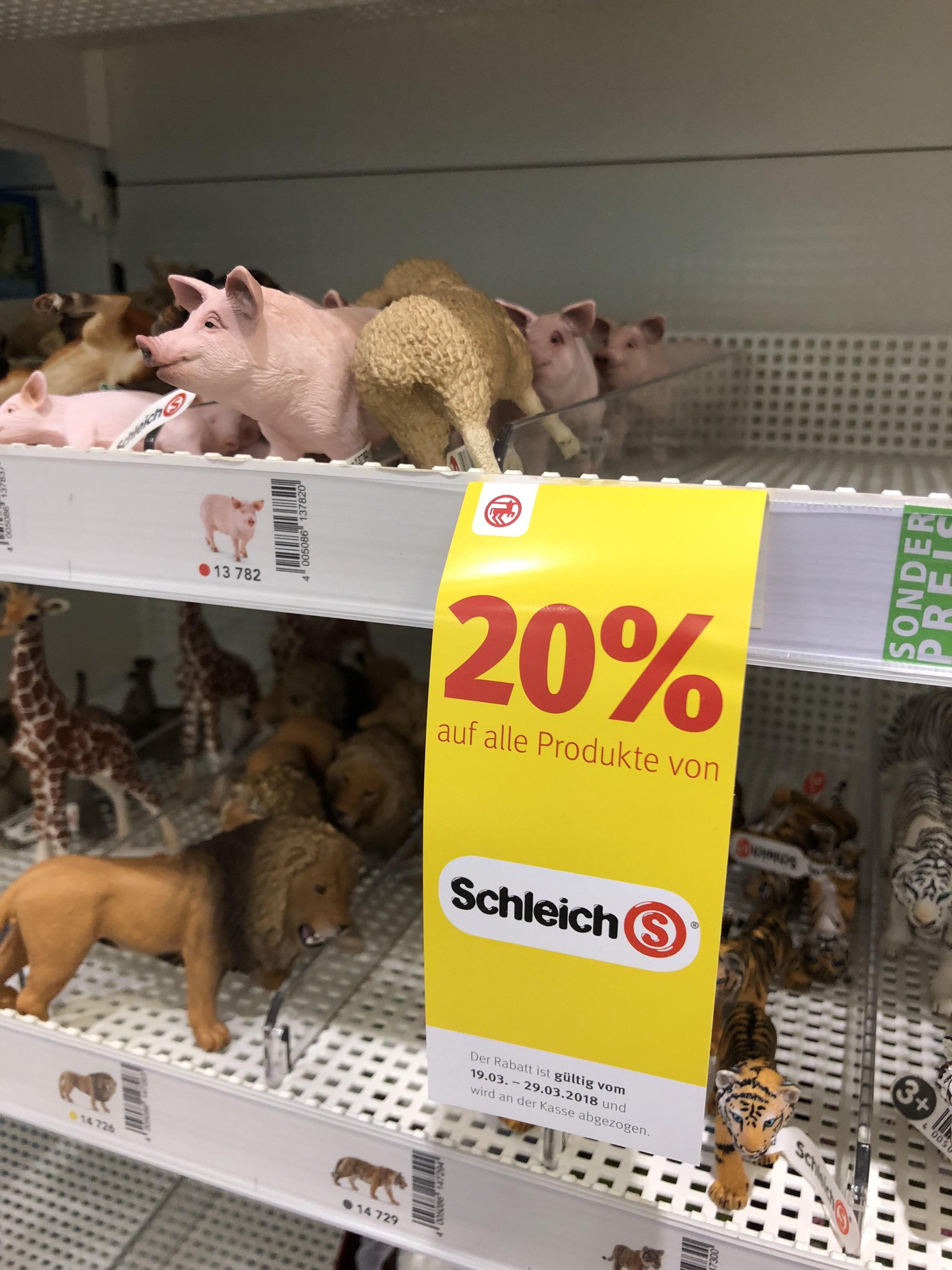 20% auf Schleich-Figuren bei Rossmann (kombinierbar mit Greenlabel-Preisen)