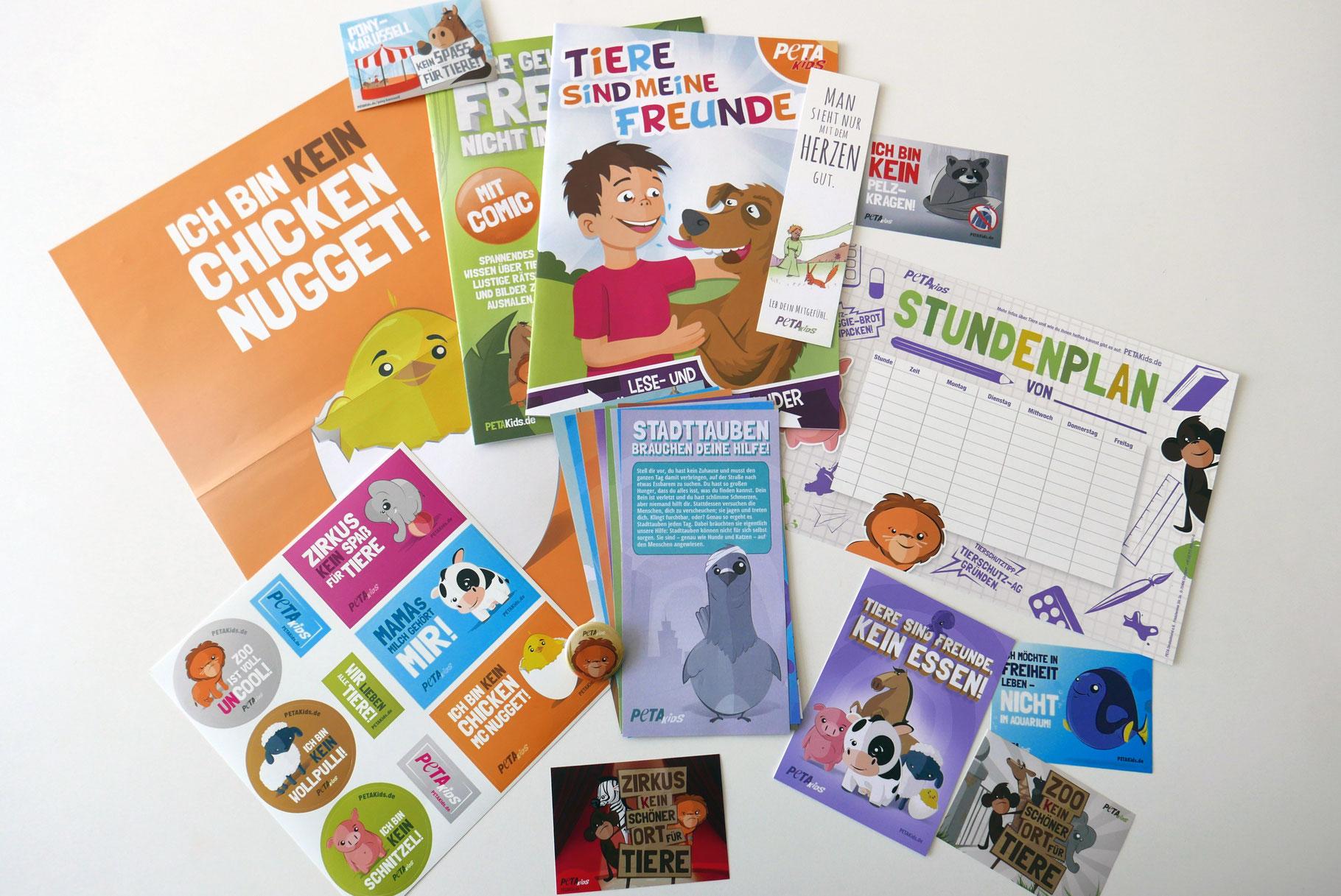Umfangreiche Infomappe ( kindgerecht ) zum Thema Tierschutz (PetaKids)