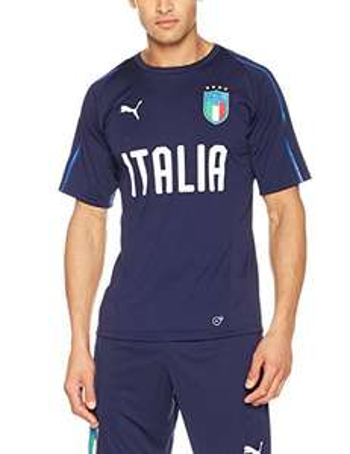 PUMA Herren Figc Italia Training SS Jersey, Peacoat-Team Power Blue, XL