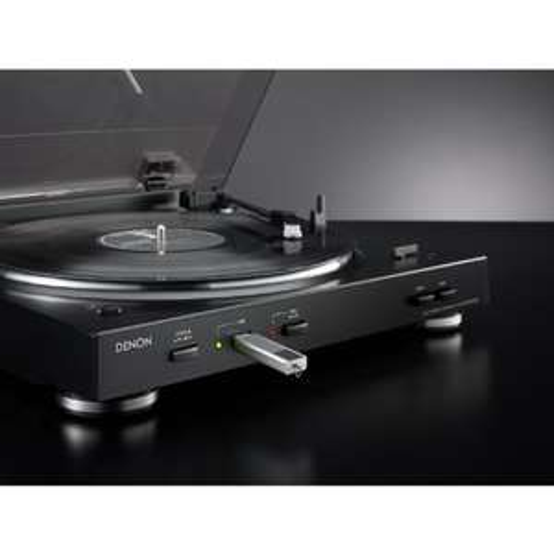 Denon DP 200 USB Vollautomatischer Plattenspieler schwarz und silber