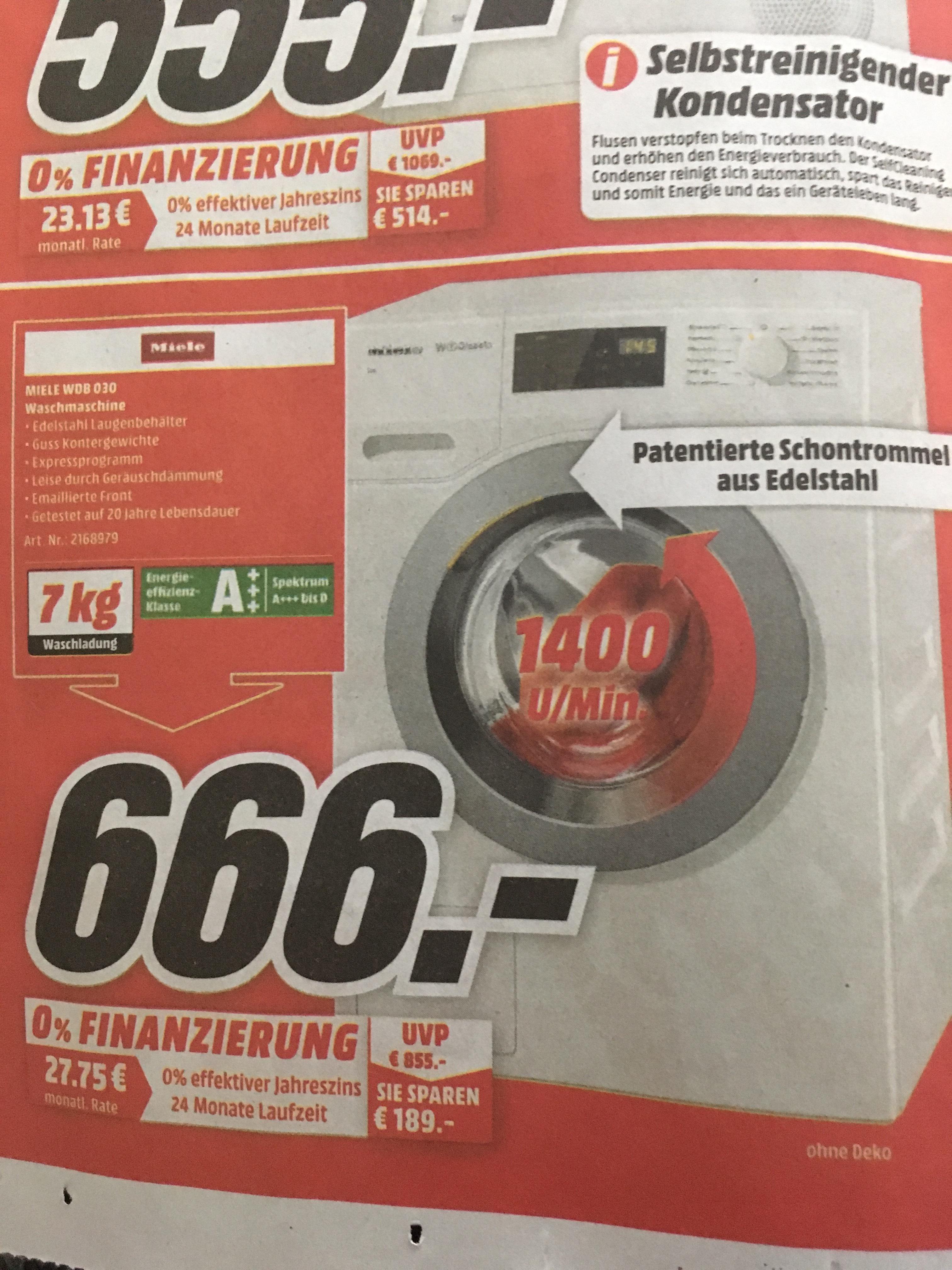 [lokal MM Essen] Miele WDB 030 Waschmaschine