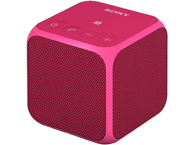 SONY SRS-X11, Bluetooth Lautsprecher, Ausgangsleistung 10 Watt, Near Field Communication, in Augenkrebs Pink für 20€ bei Saturn